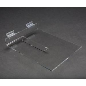 """Acrylic Slatwall Shelf with Brace 8""""x10"""" 3"""