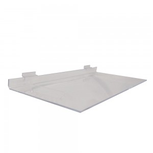 "Acrylic Slatwall Shelf with Brace 23.5""x12"""