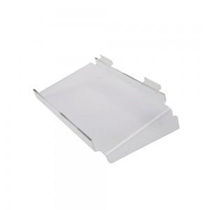 "Acrylic Slatwall Shelf With Side Braces And Lip 16"" x  10"""