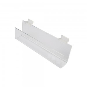 "12"" Slatwall Acrylic J Rack With Open Ends"