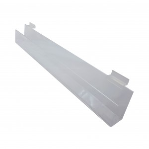 "24"" Slatwall Acrylic J Rack With Open Ends"