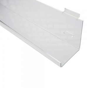 Acrylic Slatwall Tilted Display Tray with Lip 3'