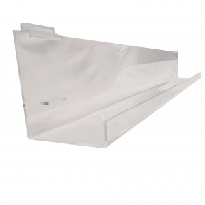 Acrylic Slatwall Tilted Display Tray with Lip 4'