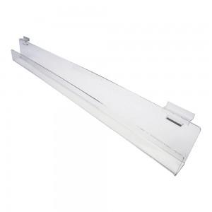 Acrylic Slatwall Slanted Shelf with Lip 3'x2""