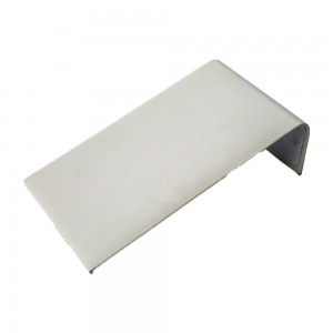 White faux leather display ramp for bracelets