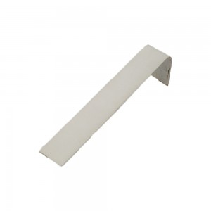 White faux leather display ramp for a single bracelet.
