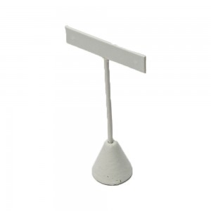 """Table Top Earring Display White Faux Leather 4.75"""" High: 240-3L-W"""