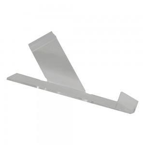 """Acrylic Slatwall Right Slanting Shoe Shelf with Toe Hold 10"""""""
