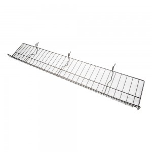 Slatgrid Black Metal Angled Shelf With Lip 46""