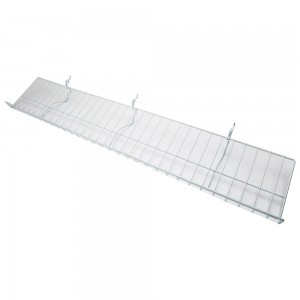 Slatgrid White Metal Angled Shelf With Lip 46""