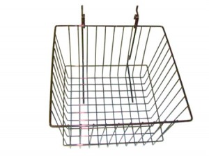"Grid/Slatwall Basket 12"" x 12"" x 8"" Chrome: BSK15-EC"