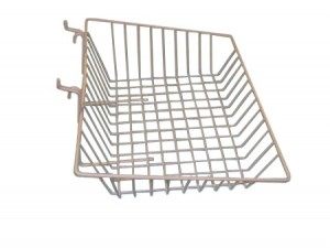 "Grid/Slatwall Basket 15"" x 12"" x 5"" White: BSK16-W"