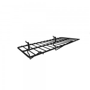 "Slatgrid Black Metal Shelf 14"" x 6"""