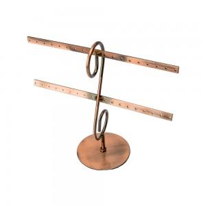Copper Metal Countertop Earring Display 16 Pairs