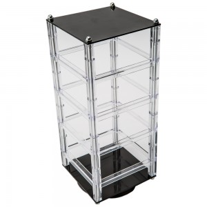 Rotating Acrylic Earring Display Holds 32