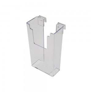 Acrylic Gridwall Stylized Brochure Holder 8""