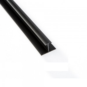 Black Vinyl Slatwall Division Molding 8'