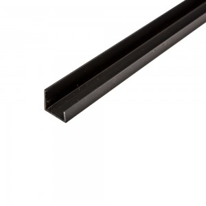 Black Vinyl Slatwall Trim 8'