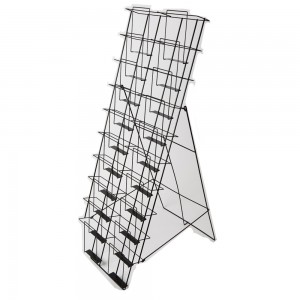 Black Wire 20 Pocket Literature Display 4'