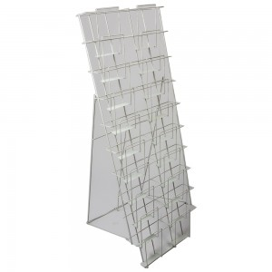 White Wire 20 Pocket Literature Display 4'