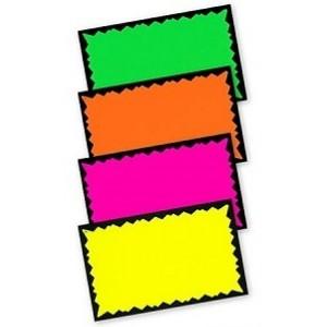 "Fluorescent Paper Cards 3.5"" x 5.5"" 2"