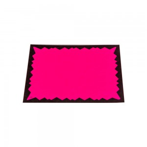 "Fluorescent Paper Cards 5"" x 7"""