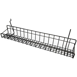 Black Metal Slatwall Tray 23""