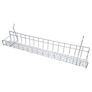"""White Metal Slatwall Tray 23"""""""
