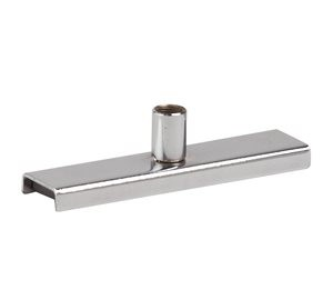 "Magnetic Chrome Sign Holder 4"" 1"