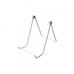 White Wire Easel 10""