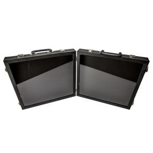 Double Black Acrylic-Sided Traveling Case
