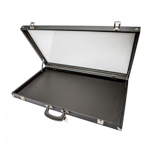 Black Acrylic-Sided Traveling Case 30""