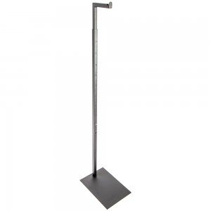 "Black Metal Adjustable Form Stand 51"" to 78"""
