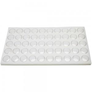 Fifty Gem Jars With White Foam