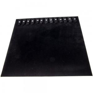 """Black Velvet Jewelry Pad with 20 Snaps 23.5"""""""