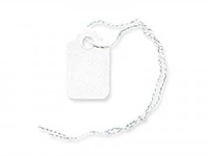 """A pack of 1,000 2"""" x 3 5/16"""" white paper tags."""