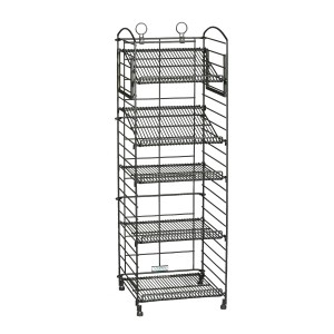 "46""H 5 Shelf Wire Fold-up Display Rack 1"
