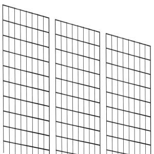 Grid 2' x 7' Black x 3