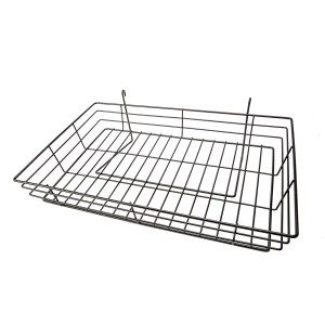 "Grid 15"" x 24"" Black Basket"