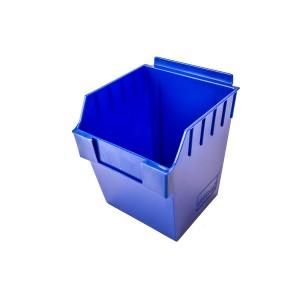 """Slatwall Box 11"""" x 11"""" x 7"""" Cube Blue: BOX4-BL"""