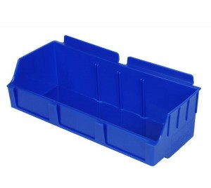 "Slatwall Box 4 1/2"" x 11 1/2"" x 3 1/2"" Wide Blue: BOX2-BL"