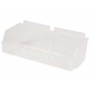 "Slatwall Box 4 1/2"" x 11 1/2"" x 3 1/2"" Wide Clear: BOX2-CL"