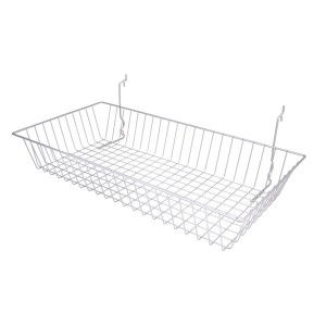 "Wire Basket 24"" x 12"" x 4"" Chrome 1"