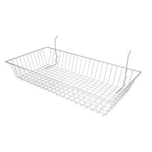 Assorted Grid/Slatwall Basket Chrome