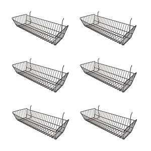 "Grid/Slatwall Basket 10"" x 24"" x 5"" Black: BSK12-B  6"