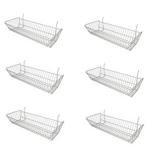 "Grid/Slatwall Basket 10"" x 24"" x 5"" Chrome:  2"