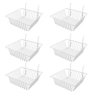 "Grid/Slatwall Basket 12"" x 12"" x 4"" 1"