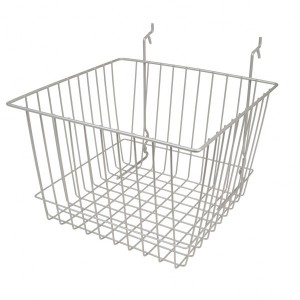 "Grid/Slatwall Basket 12"" x 12"" x 8"" Chrome: BSK15-EC 1"
