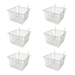 "Grid/Slatwall Basket 12"" x 12"" x 8"" Chrome: BSK15-EC 6 1"