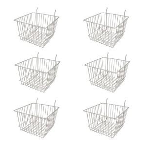 "Grid/Slatwall Basket 12"" x 12"" x 8"" Chrome: BSK15-EC 6 1"